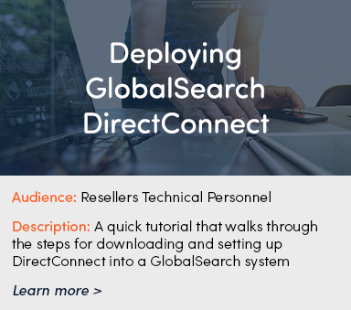 Deploying GlobalSearch DirectConnect Thumb