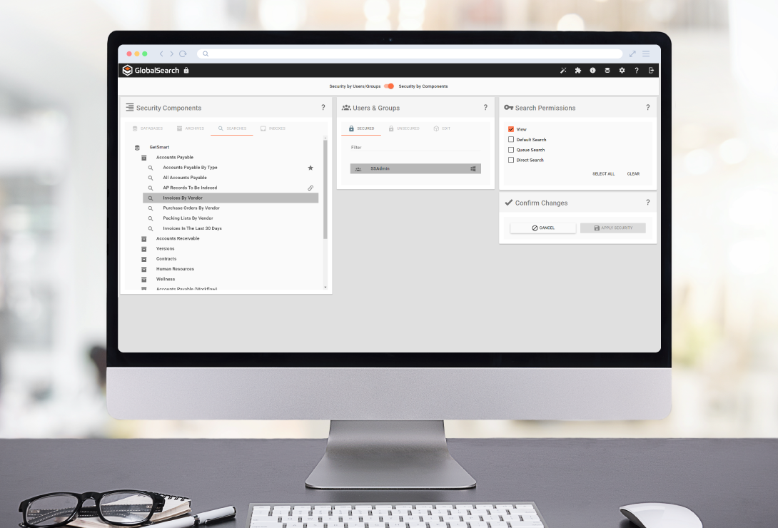 GlobalSearch ECM software - easy-to-use permission manager